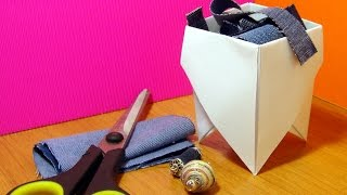 Make A Convenient Origami Rubbish Box - Diy Crafts - Guidecentral