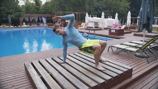 """Тренируйся всегда и везде- Виталий Павликов и очень крутое упражнение """"The Scorpion"""""""