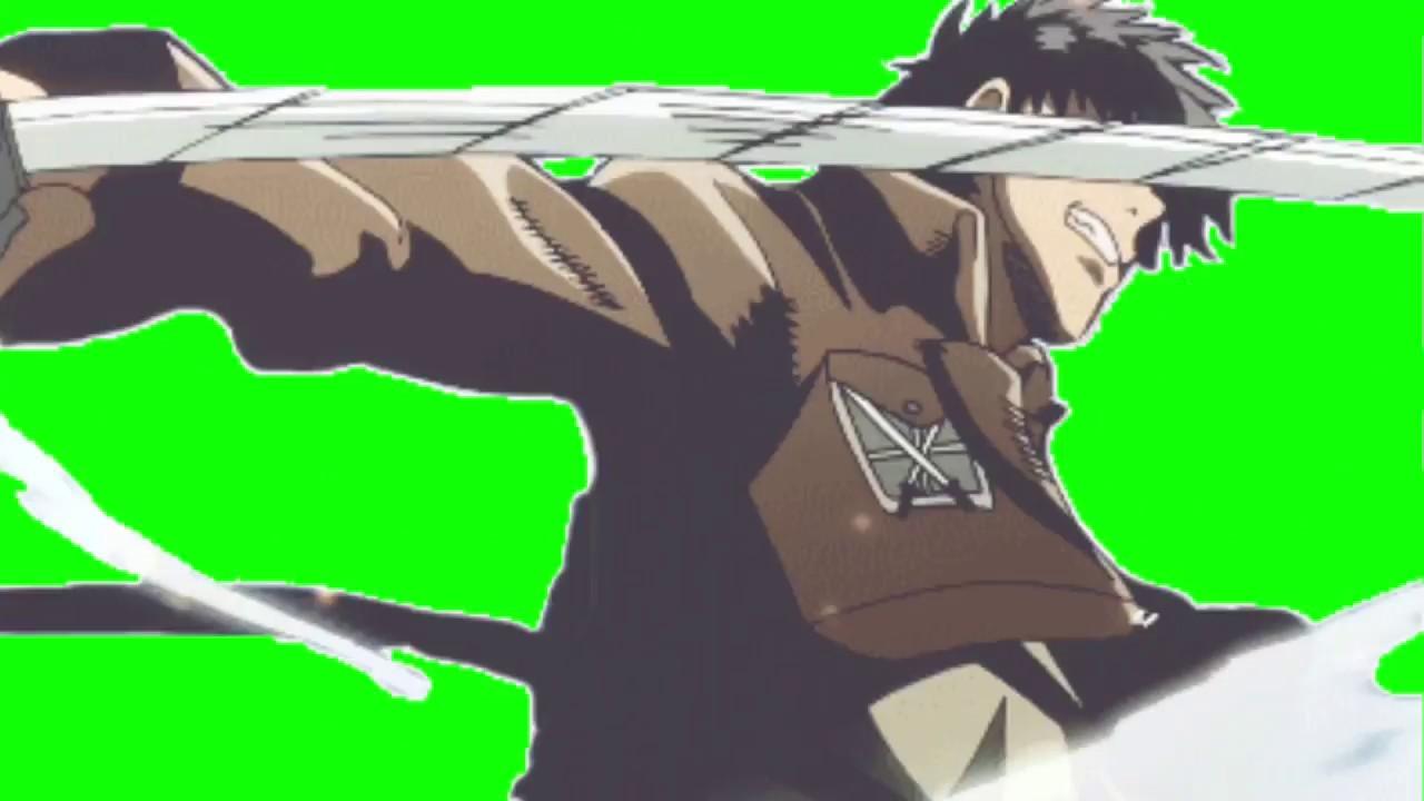 Green Screen Effects Levi Ackerman Shingeki No Kyojin By Green Screen Effects
