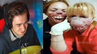 Самое смешное видео в мире Попробуй не засмеяться с водой во рту челлендж ч 124
