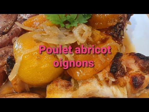 recette-facile-poulet-abricot-oignons