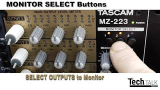 Rack Mounted Zone Mixer from TASCAM. The MZ-223.