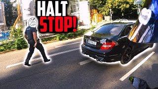 POLIZIST rennt C63 AMG hinterher! | RAGE in der Stadt!