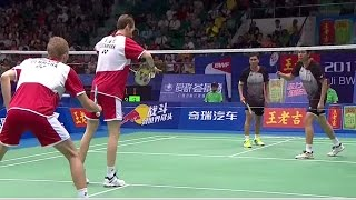 M.Boe/C.Mog. v M.Ahsan/H.Setiawan |MD-F| Wang Lao Ji BWF World Champ. 2013 thumbnail