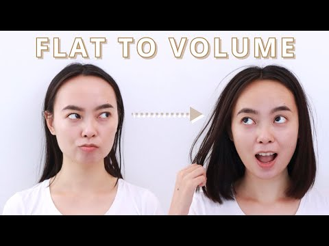 My Flat to Volume Hair Routine - YouTube