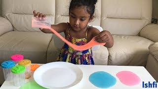 Glowing Slime for Learning colors with Ishfi