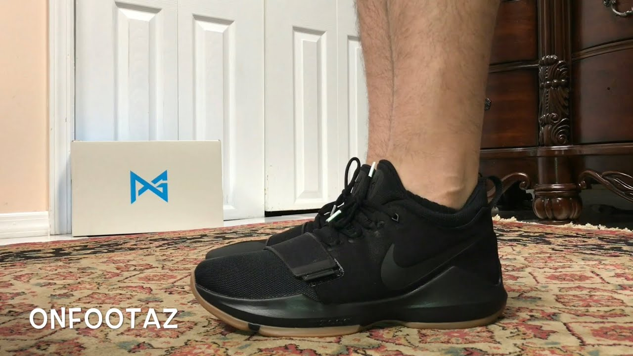 79ad04c3e00 Nike PG1 Black Gum On Foot - YouTube