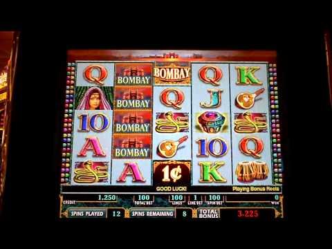 Bombay slot machine bonus win