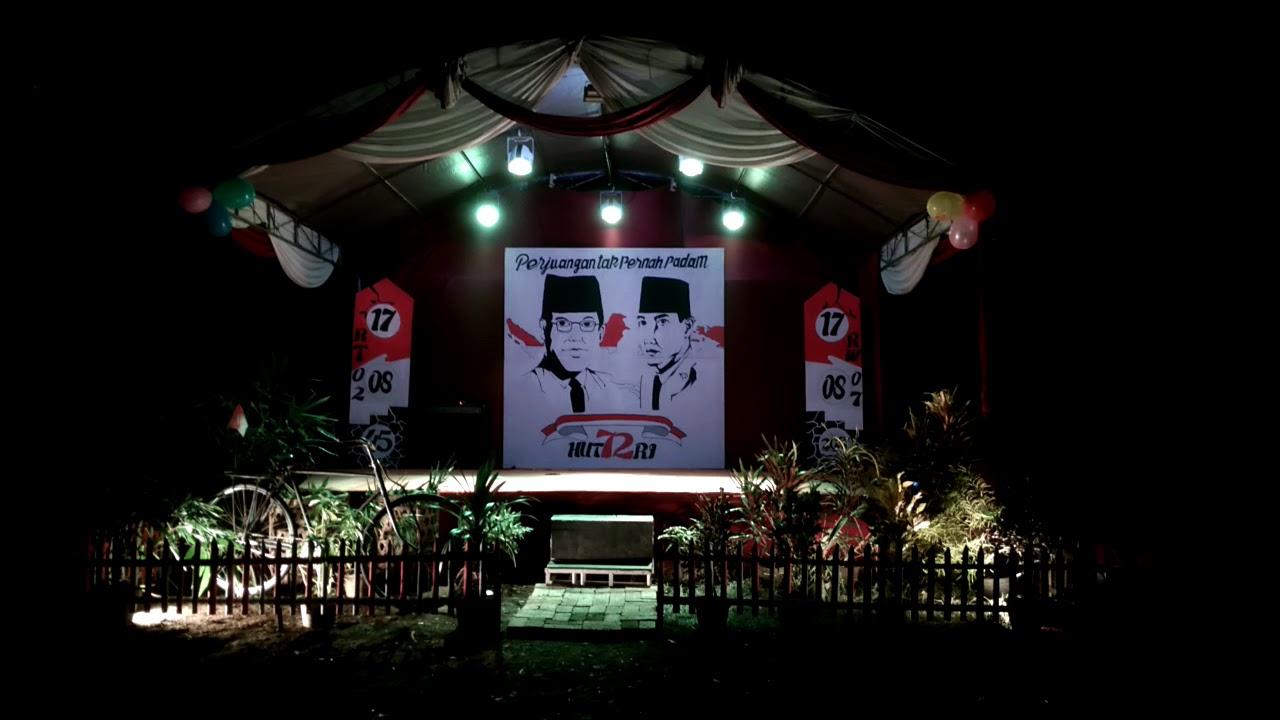 Dekor Panggung gembira hut ri 72 kp Payangan Rt 02 07