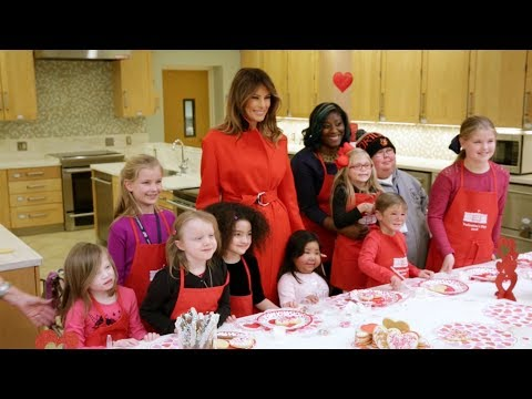 First Lady Melania Trump Visits Children at The Children's Inn at NIH