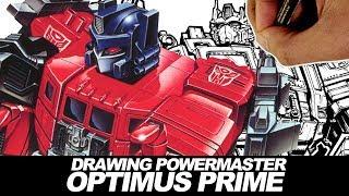 DRAWING TRANSFORMERS POWERMASTER OPTIMUS PRIME!