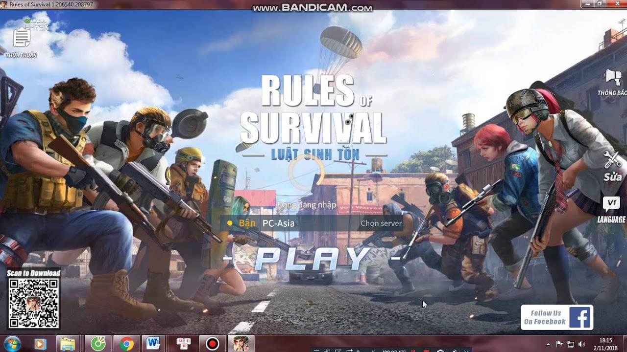 cách tải Rules Of Survival trên PC