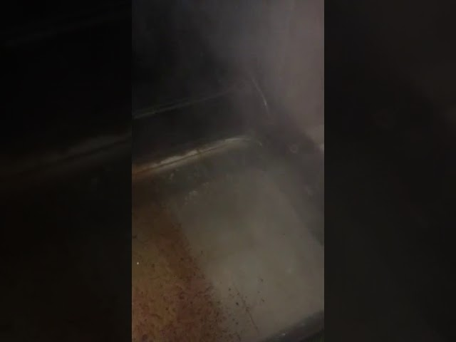 Oven door cleaning