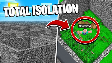 Forcing 100 Players to live in TOTAL ISOLATION in Minecraft!