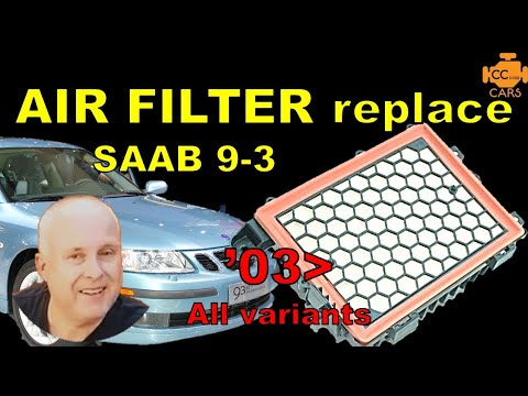 SAAB 9-3 Air Filter Replacement | How to Clean MAF Sensor
