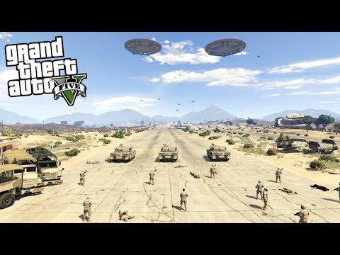 ALIEN INVASION ON EARTH!!! (GTA 5 Mods) |