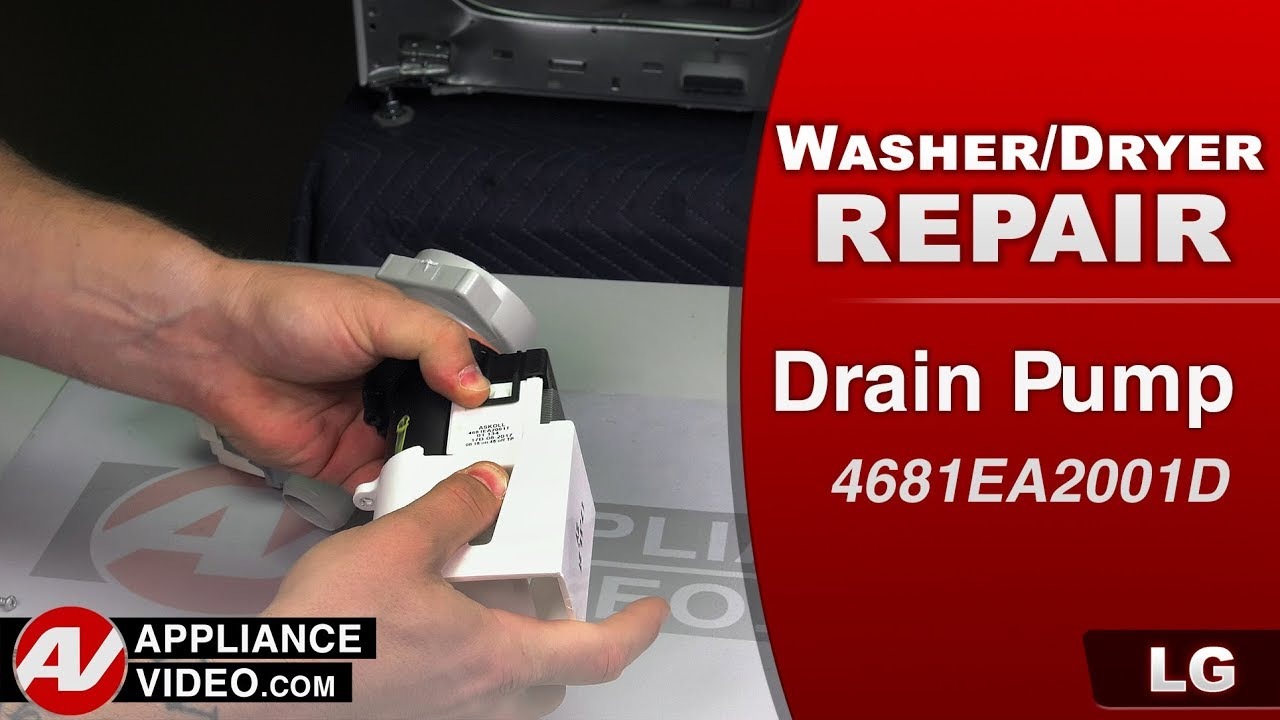 Lg Wm3488hw Washer Oe Error Code Drain Pump Appliance Video
