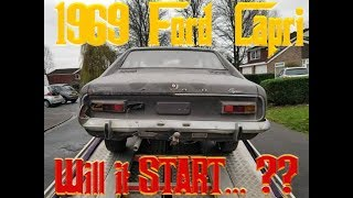 1969 FORD CAPRI Barnfind - Will it start?  -  PART 1