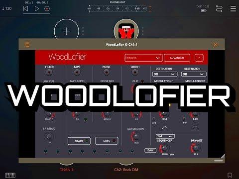 WoodLofier - AUv3 - Tape Wobble - Bit Reduction - Crusher - Saturation & More - iPad Demo