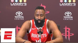 [FULL] James Harden on Carmelo Anthony: 'He's like a little kid again' | ESPN