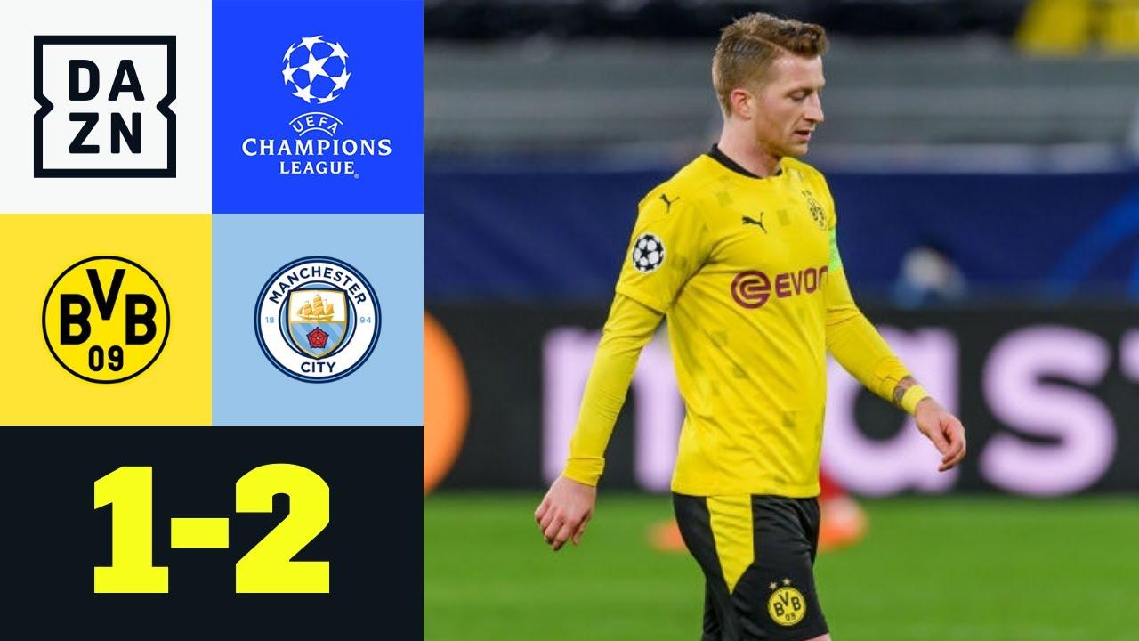 Wieder Foden! Citizens werfen BVB raus: Dortmund - Man City 1:2 | UEFA Champions League | DAZN