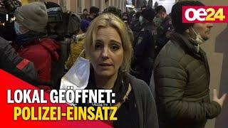 Lokal geöffnet: Polizei-Einsatz bei Wut-Wirtin