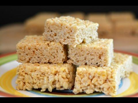 Receta de Barras de Rice Krispies  Cómo Hacer Barras de Cereal  SyS