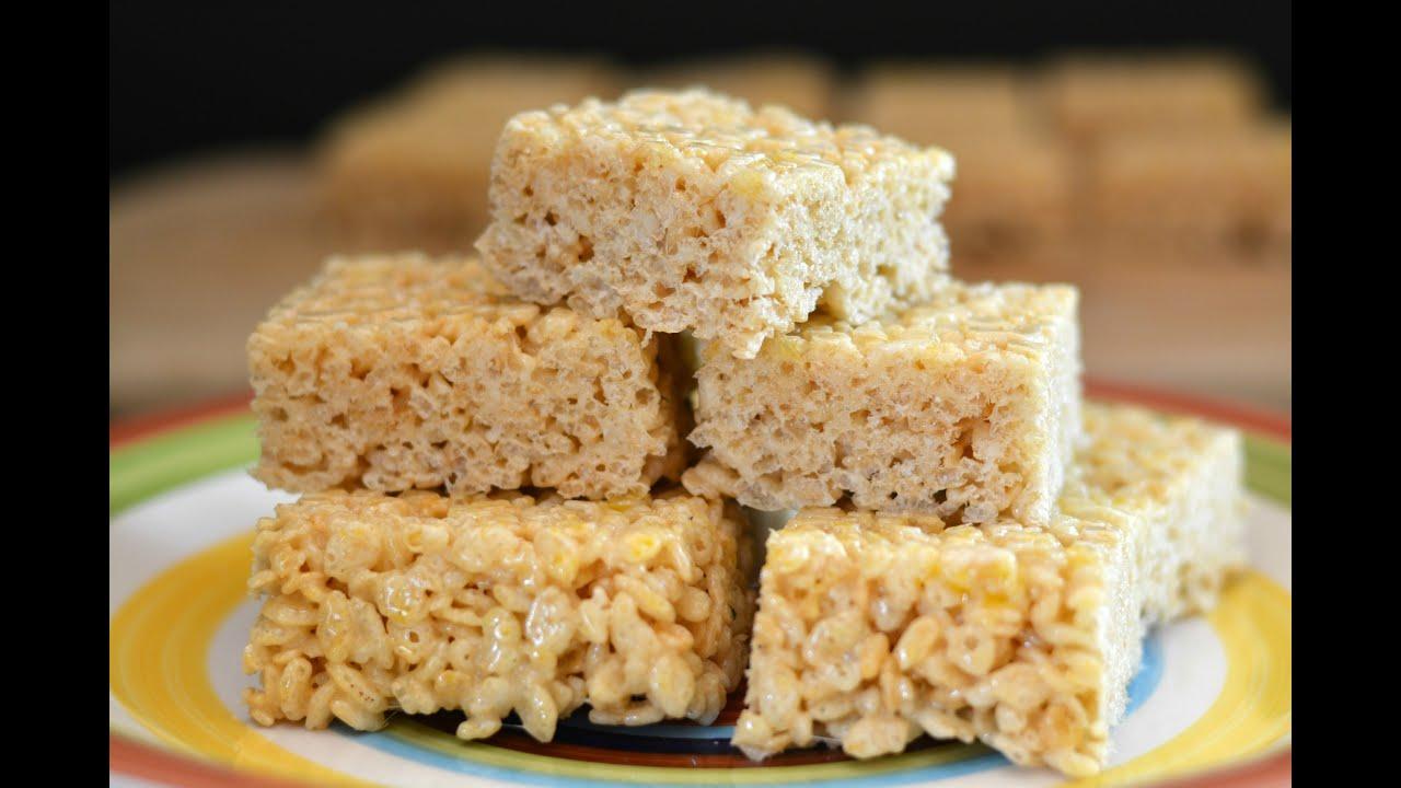 Receta De Barras De Rice Krispies Cómo Hacer Barras De Cereal Sys Youtube