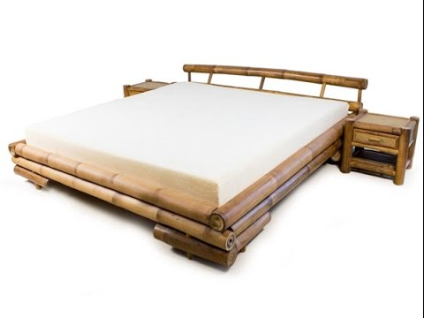 Great Inspiring Bamboo Bed Frame   YouTube