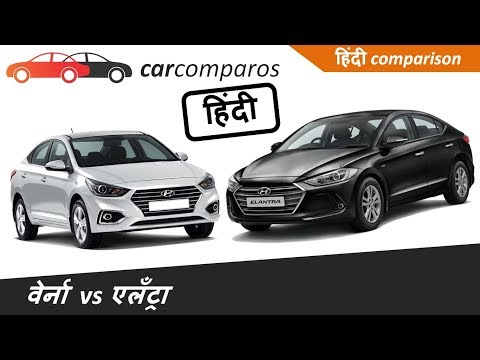 New Verna 2017 vs Elantra Hindi   v s   Comparison Review Hyundai