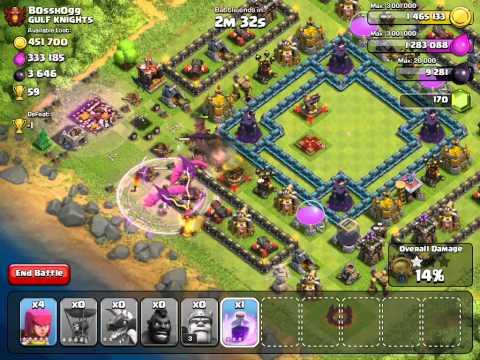 Raiding B0SSH0G On Clash of Clans (Sandbox Mode)
