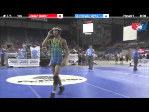 Fargo 2012 106 Round 6: Jordan Kutler New Jersey vs. KeShawn Hayes Missouri