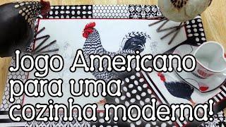 Patchwork: jogo americano dupla face (com mug rug!) simples e rápido