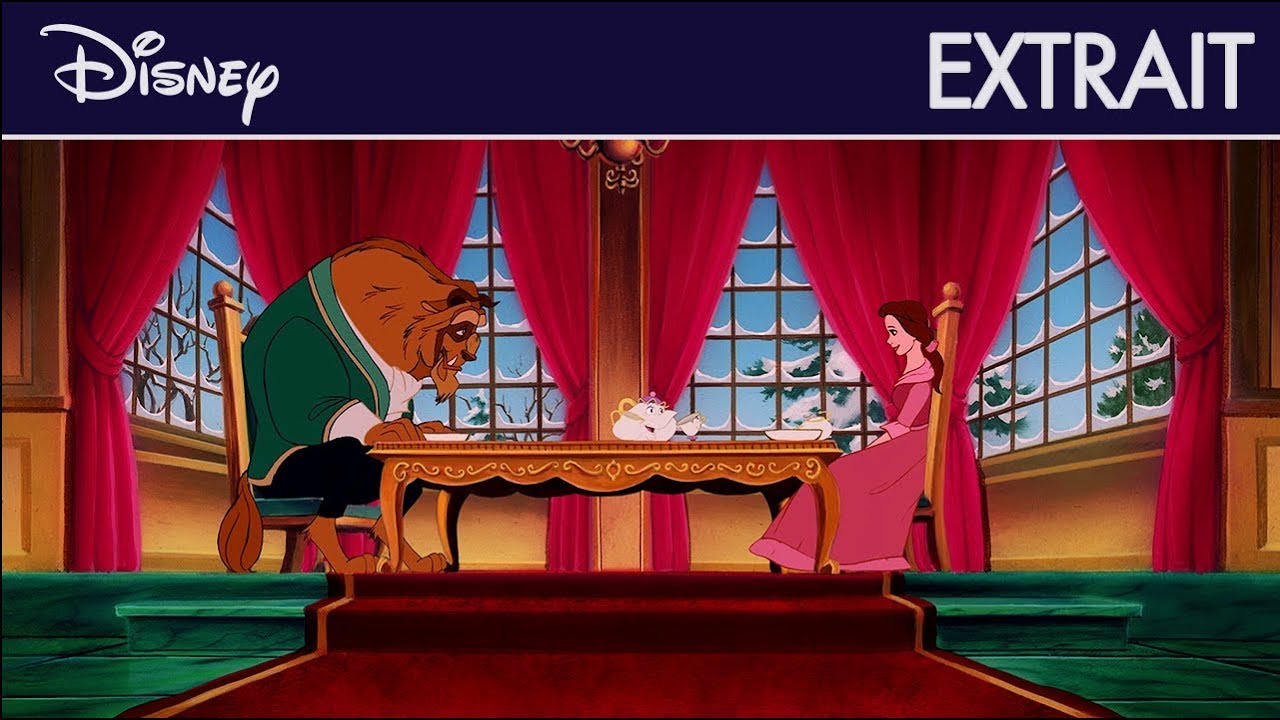 La Belle et la Bête - Extrait : La Bête apprend les bonnes manières   Disney