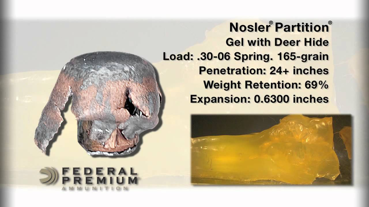 Bullet Performance: Federal Premium Nosler Partition