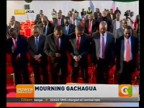 Mourning Gachagua