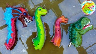 4 BRACHIOSAURUS! Dinosaur Walking And Laying Eggs | Dino Toys For kids #2 G195B ToyTV