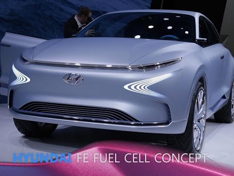 Hyundai FE Fuel Cell Concept en direct du Salon de Genève 2017
