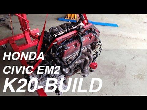Civic EM2 K20 Swap EP. 02 - Suspension & Engine Installation