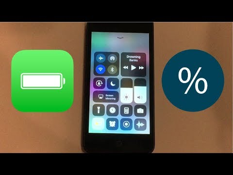 how to turn on battery percentage on ipod