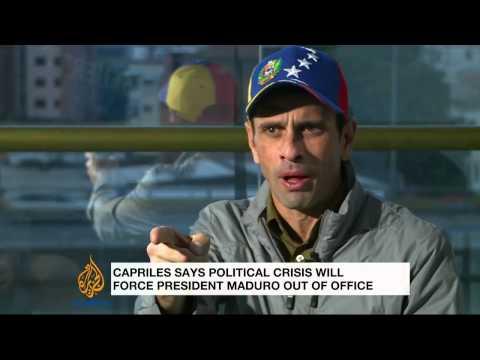 Venezuela's Henrique Capriles talks to Al Jazeera