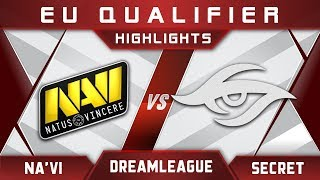 NaVi vs Secret DreamLeague Major 2017 EU Highlights Dota 2