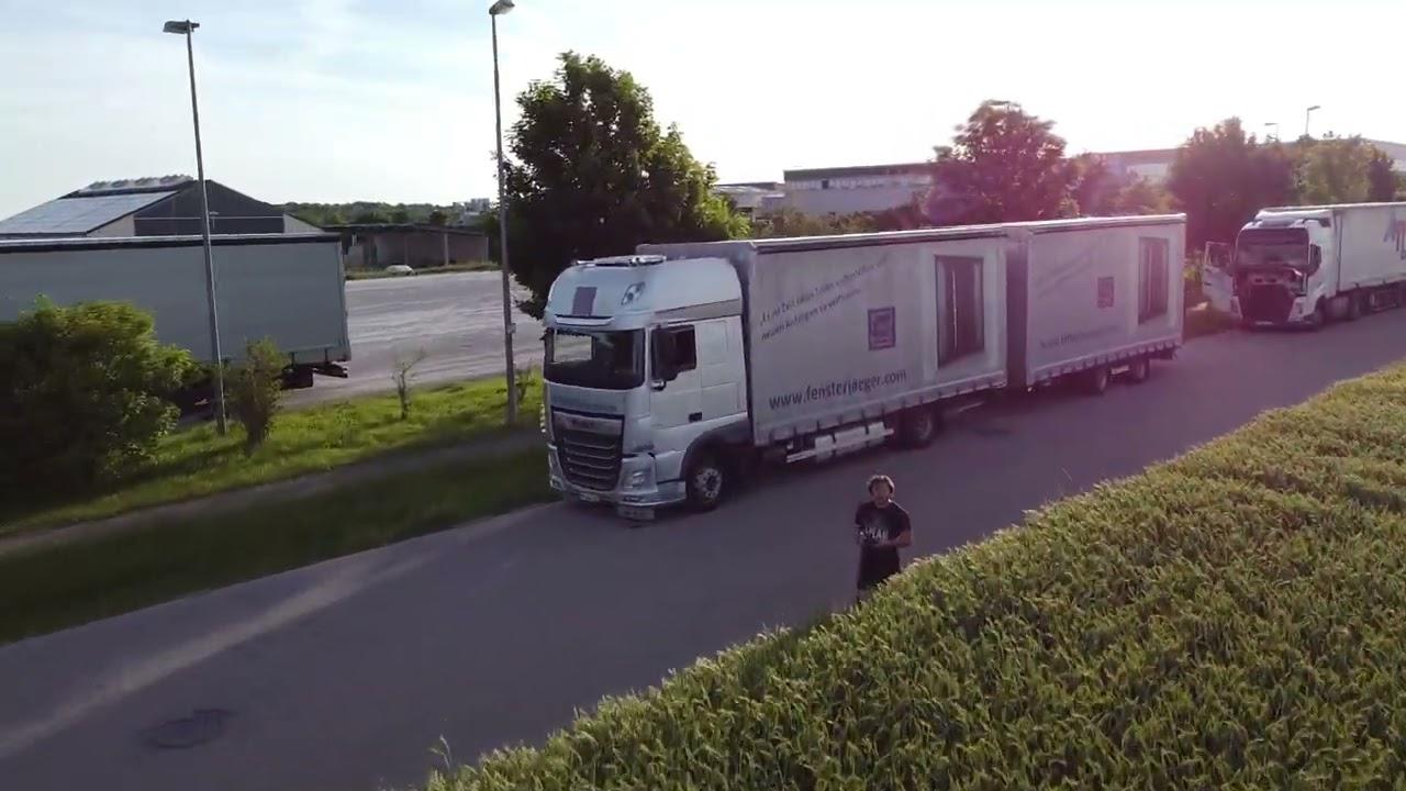 Drone truck video