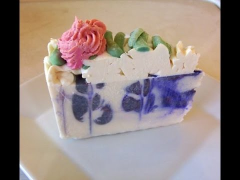 Lavender Soap Cake Piping Tutorial With Natures Garden