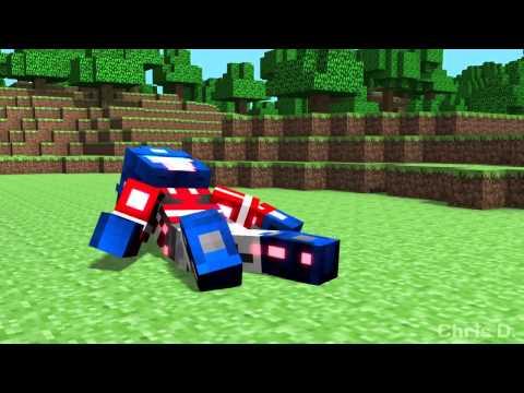 Minecraft  Оптимус Прайм vs Мегатрон!