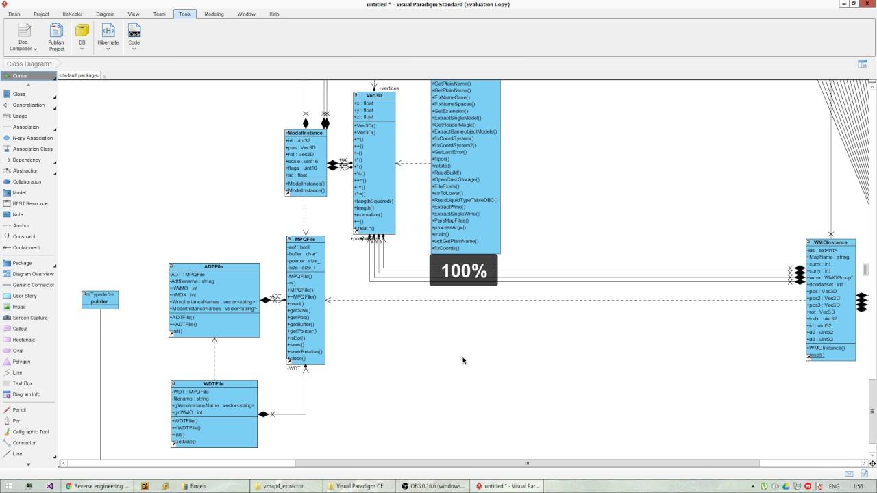 Visual Paradigm Reverse Engineering C++ Source Code - YouTube