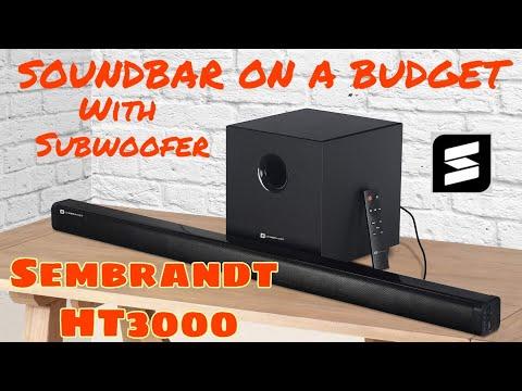 SEMBRANDT HT3000 : BUDGET Soundbar With SubWoofer