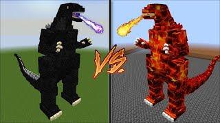 Minecraft BIGGEST GODZILLA VS BURNING LAVA GODZILLA !! WITH GIANT TITAN ANIMALS !! Minecraft