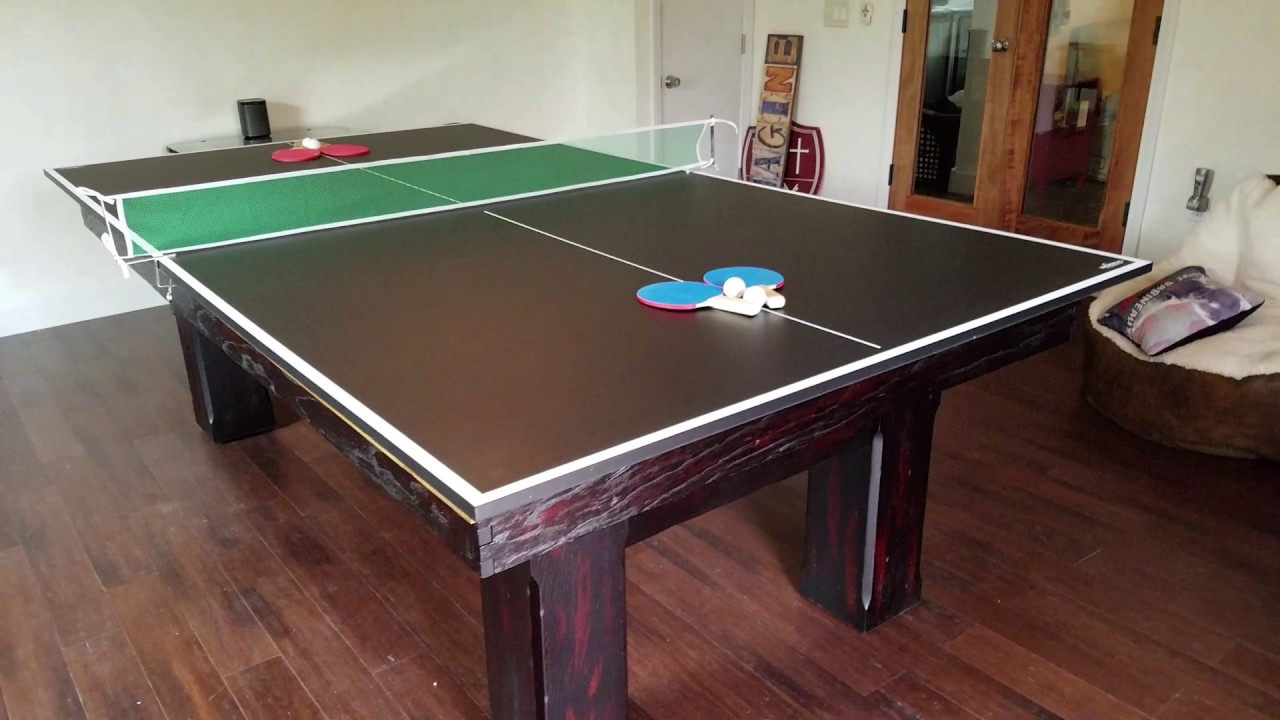 Ping Pong Conversion Top For Pool Tables YouTube - Billiards ping pong table