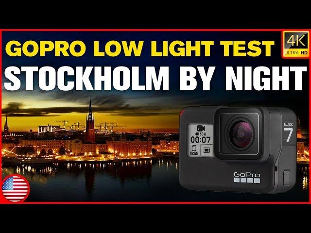 GoPro Hero 7 Black Low Light Video Recording Test | Stockholm By Night [Moto Vlog in English 0016]